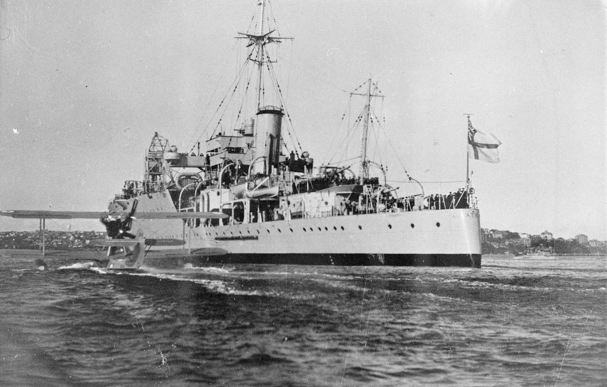 Imagery Scanned from Navy Historic Archive HMAS Albatross with HMAS Walrus 11 July 1938