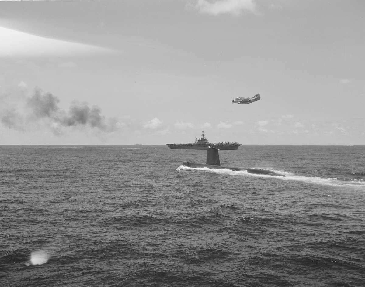 Imagery Scanned from Navy Historic Archive melbourne 2 + uss catfish 1/5/62